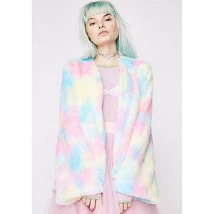Jackets & Coats - Sugar Thrillz Candy Craving Fluffy Coat
